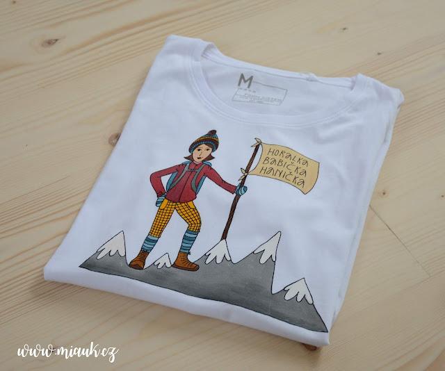 malované tričko hory