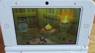 ドラクエ8(3DS) 写真撮影 金スライムの置物