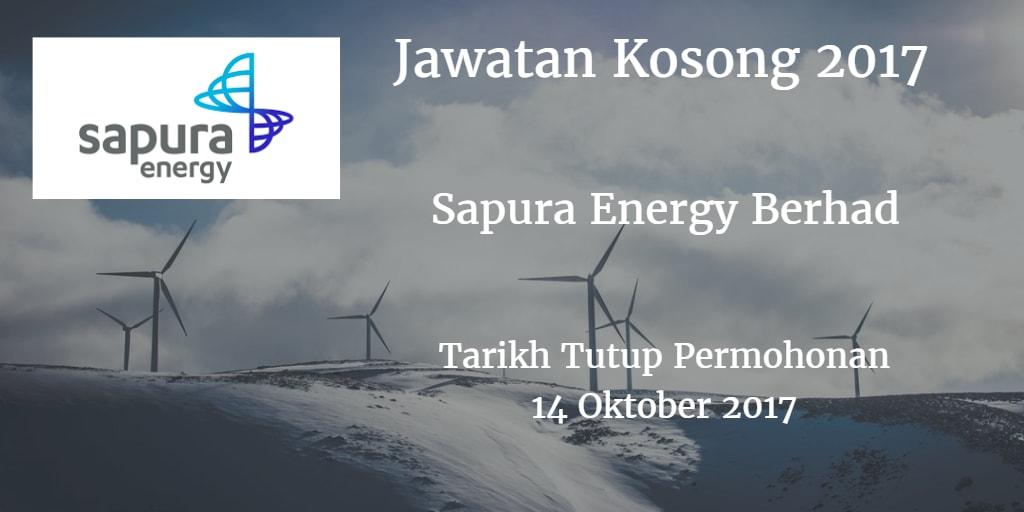 Jawatan Kosong Sapura Energy Berhad 14 Oktober 2017