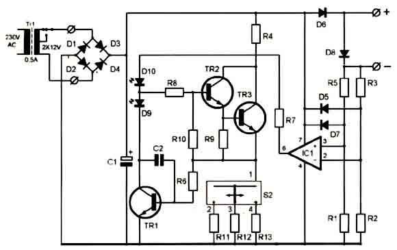 Super ni cd battery charger 12 18v circuit diagram electronic super ni cd battery charger 12 18v circuit diagram ccuart Image collections