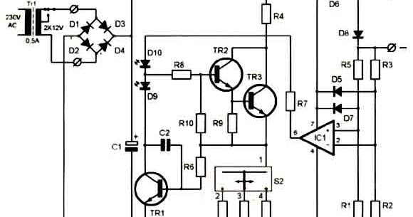 Super Ni-Cd Battery Charger 12-18V Circuit Diagram Electronic