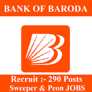 10th, Bank, Bank Of Baroda, BOB, freejobalert, Gujarat, Latest Jobs, Peon, Sarkari Naukri, Sweeper, bob logo