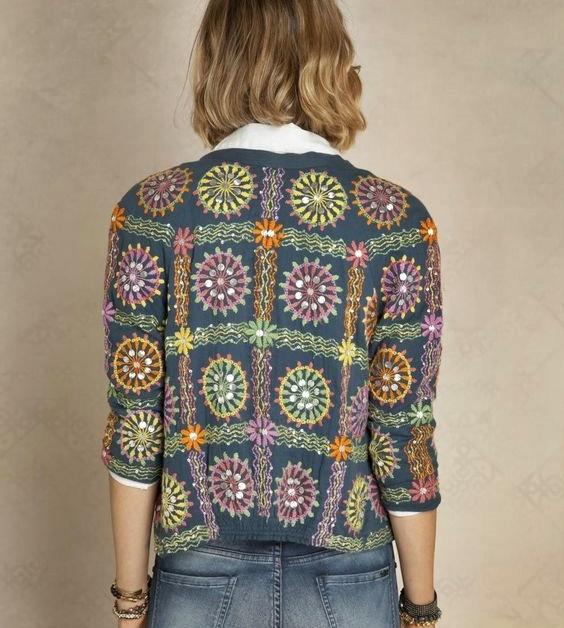 wzór na taka bluzę szydełkiem
