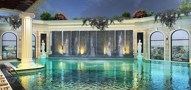 Bể bơi cao cấp tại dự án Tân Hoàng Minh Trần Duy Hưng