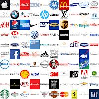 Uluslararası büyük firmaların logolarını bir arada gösteren görsel