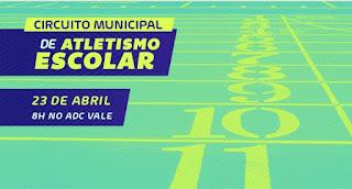 Cajati realiza o primeiro Circuito Municipal de Atletismo Escolar