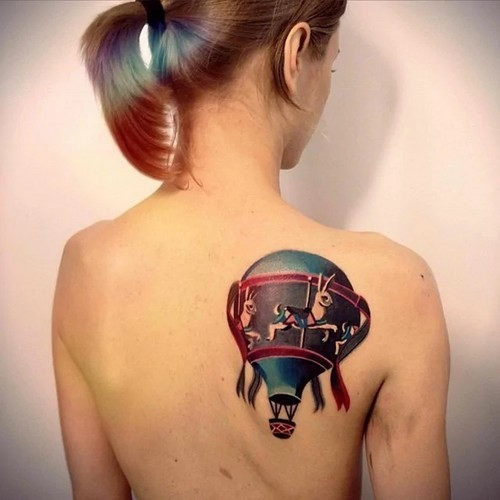 Tatuagens de balão de ar quente