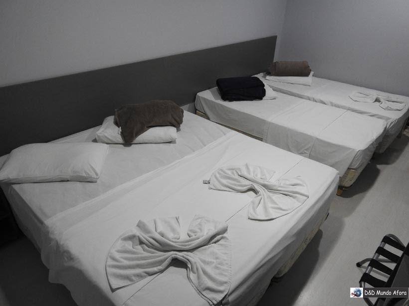 Onde ficar em Fortaleza - quarto do hotel Aquarius
