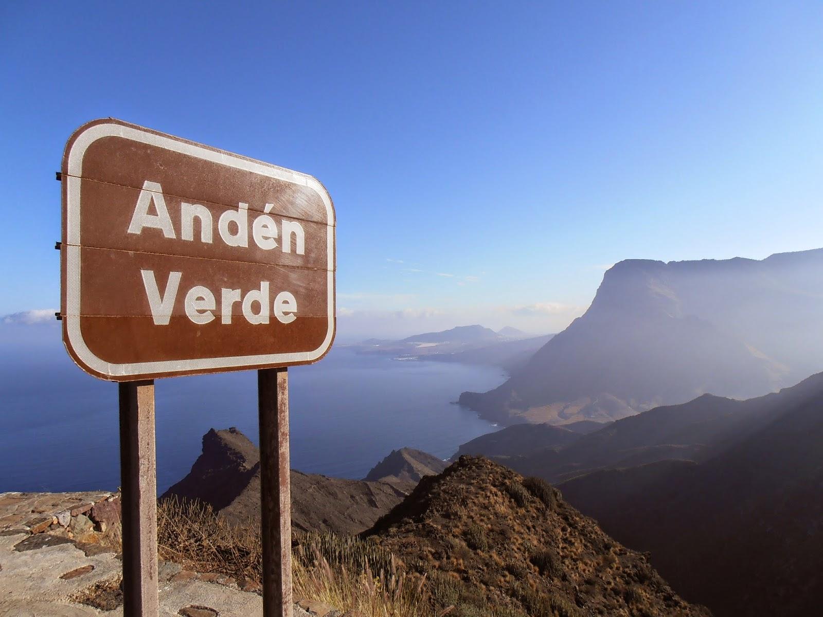 Andén Verde y Roque Faneque al fondo
