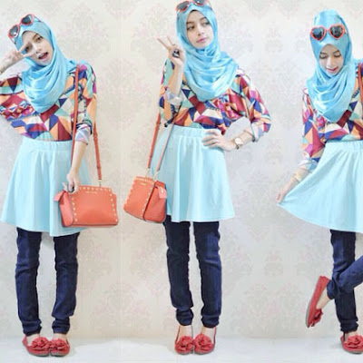 fashion hijab anak kampus model 2