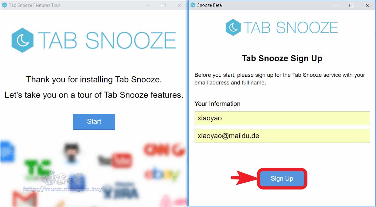 Tab Snooze 快速收藏分頁標籤