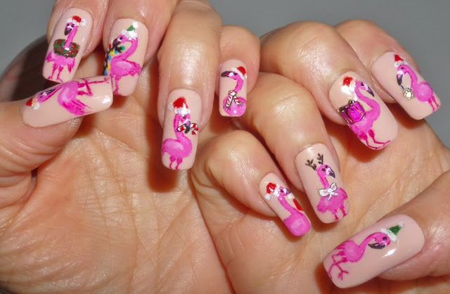 flamingo nail designs