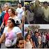 Camila visita sete municípios e participa de festa de emancipação e comemorações religiosas