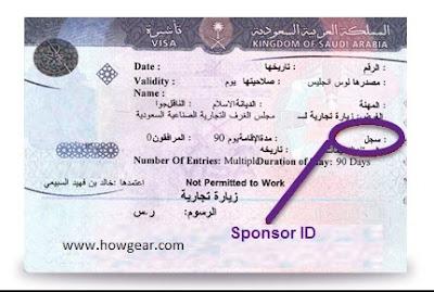 Visa page sponsor ID