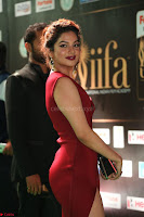 Natasha Nebasha in a Leg Slit Sleeveless Stunning Red Gown at IIFA Utsavam Awards 2017 042.JPG