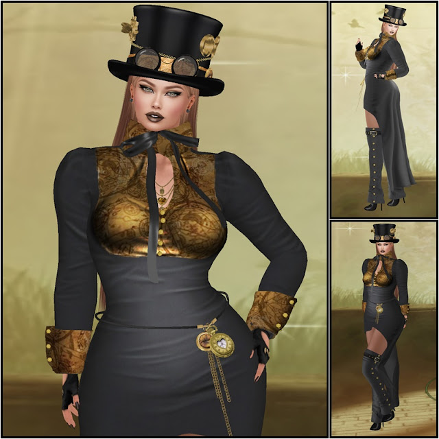 * STEAMPUNK STYLE COLLECTION 2018 * MARCELA BLACK *