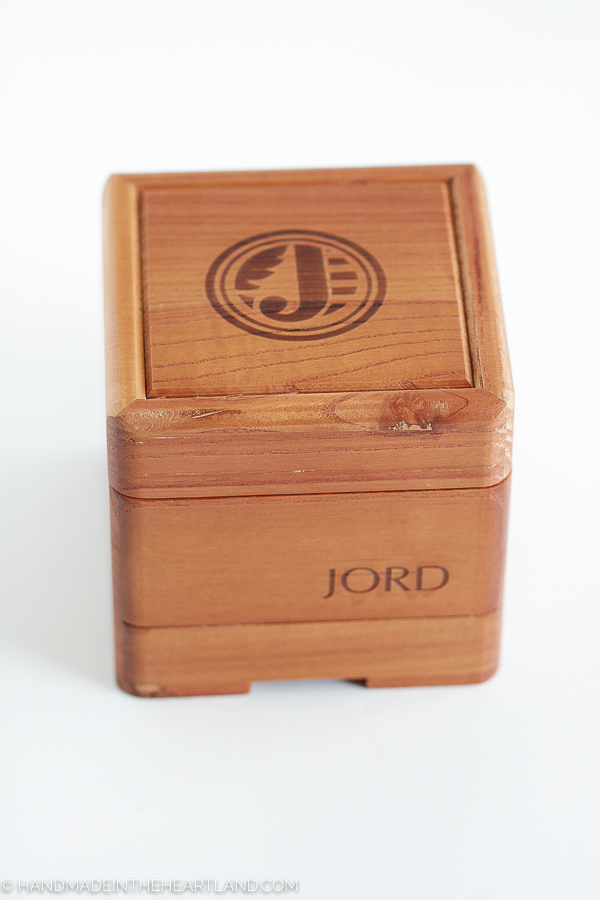 packaging for JORD watches