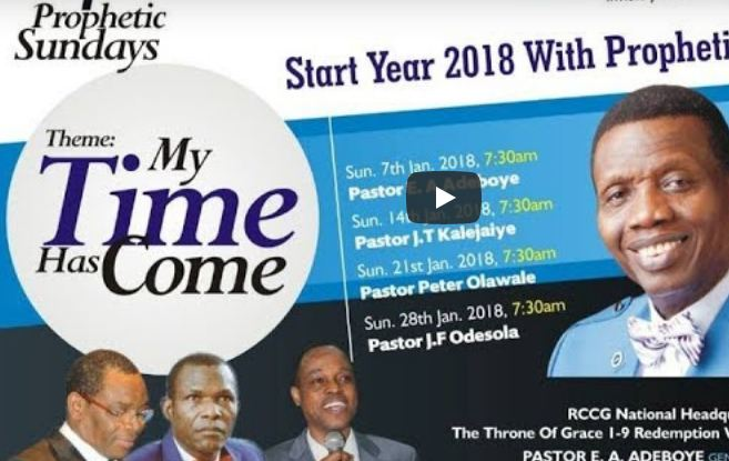 RCCG JANUARY 2018 ANNUAL PROPHETIC THANKSGIVING SERVICE