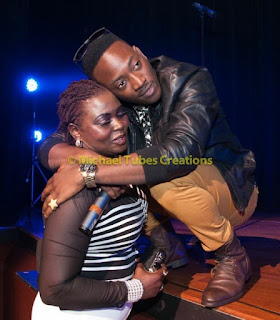 Dammy Krane and his mum
