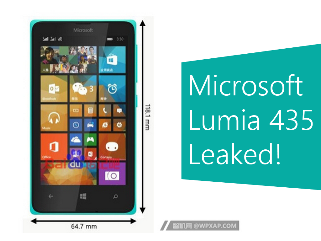 Microsoft Lumia 435 Photo And Specs Leaked!