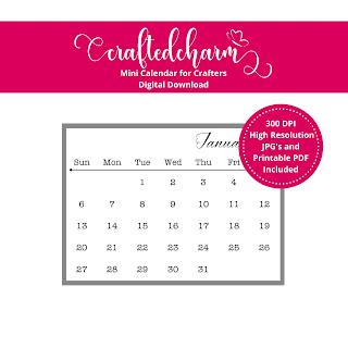 Digital Calendar for Coasters