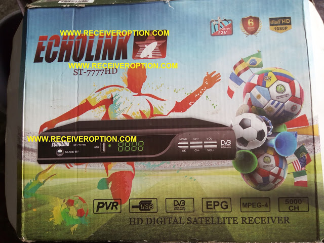 ECHOLINK ST-7777HD RECEIVER AUTO ROLL POWERVU KEY NEW SOFTWARE