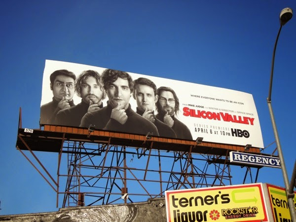 Silicon Valley series launch billboard