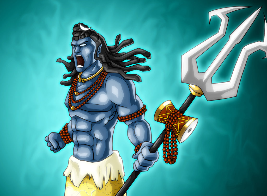 lord shiva angry tandav