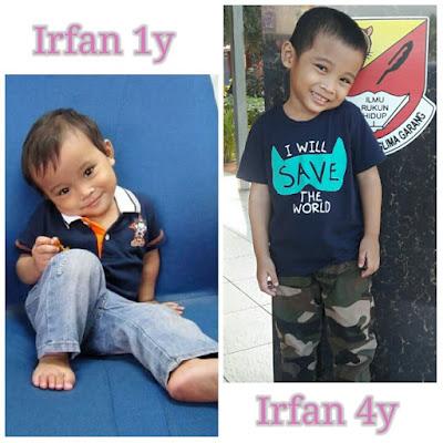 irfan hensem, irfan 4 tahun