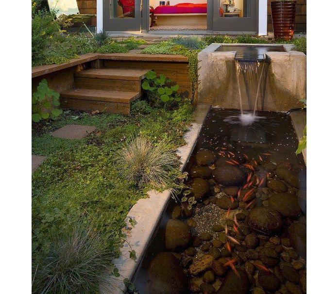 Desain Kolam Ikan Koi Minimalis Depan Rumah