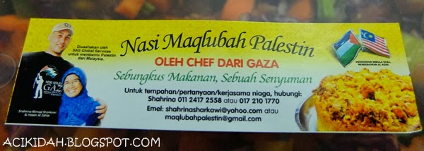 Nasi Maqlubah Palestin Contact Person & Number