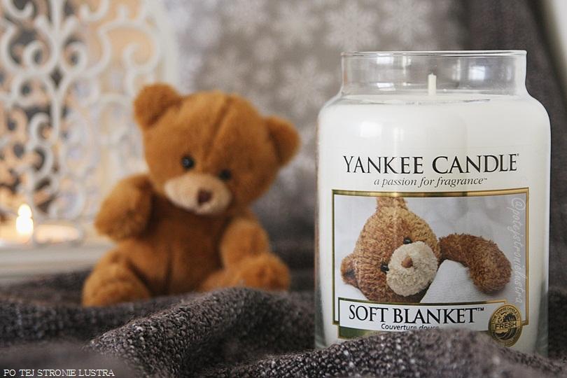 duża świeca zapachowa yankee candle soft blanket