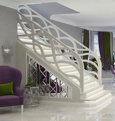 Modern Interior Modern Staircase Railing Design | Modern Style Stair Railing | Handrail | Art Deco | Rustic Farmhouse | Decorative | Unique Fancy Stair