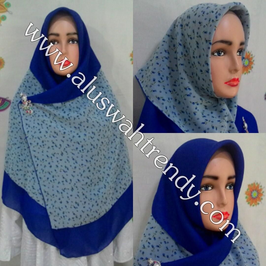Jilbab Khimar Segiempat 2 Layer Bolak Balik 11