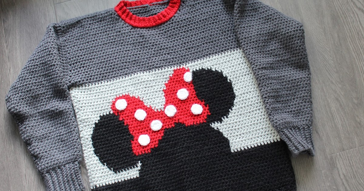 Minnie Mouse Sweater Crochet Pattern Once Upon A Cheerio