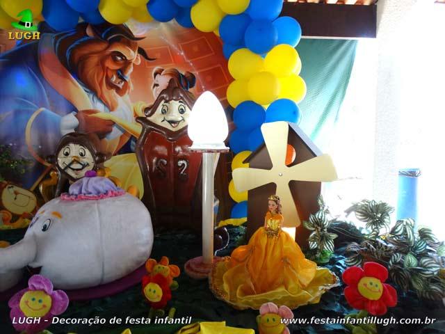 Decoração de festa A Bela e a Fera - Aniversário