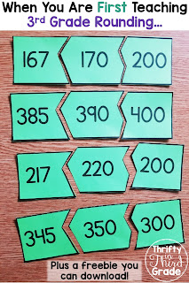It is important to think about how you introduce third graders to rounding. In this post, I explain which skill I begin with. I have also included a freebie that you can use with your students as you teach third grade rounding!