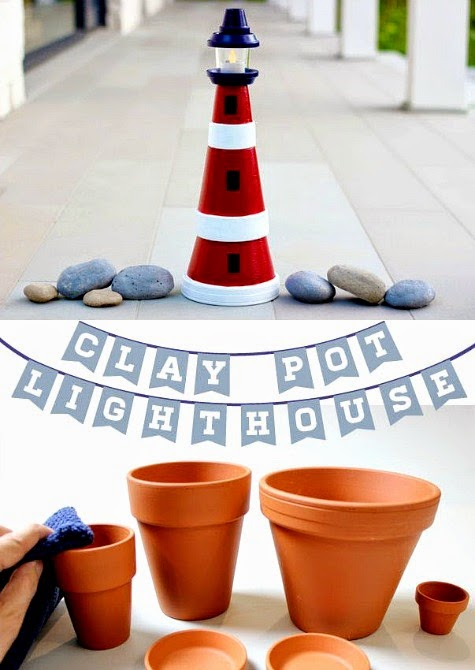 How to Make a Lighthouse from Clay Pots