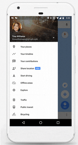 How to Enable location sharing option google Maps
