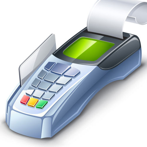 debit and credit card machine