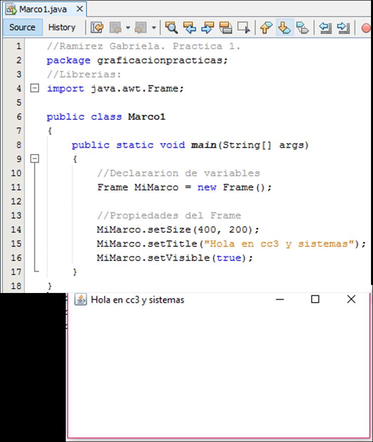 Ing. Sistemas Computacionales: Practica 1 en Java, con NetBeans como ID