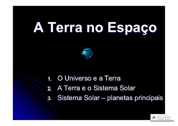 A TERRA NO ESPAÇO.