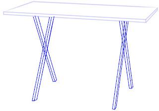 Cara Cepat dan Mudah Menggambar Meja Lipat