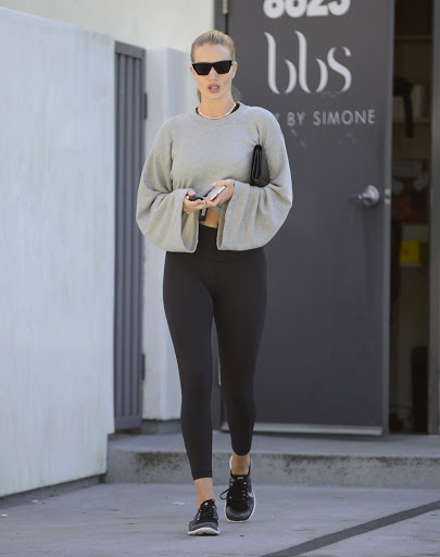 Rosie Huntington-Whiteley – Style Out in Tights in Los Angeles