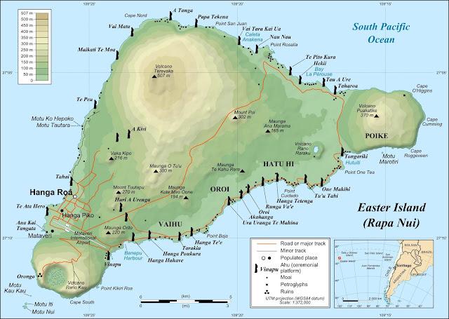 Mapa da Ilha da Páscoa