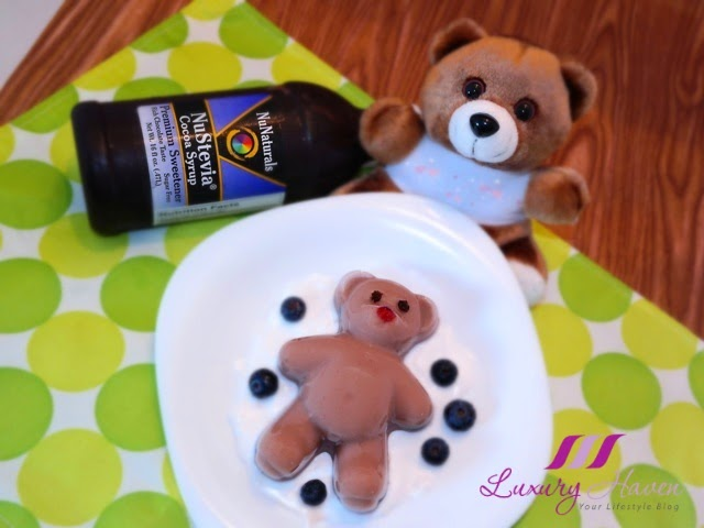 cute teddy bear nustevia chocolate almond jelly recipe