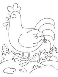 Cute Ornamental Chicken Coloring Pages For Kids