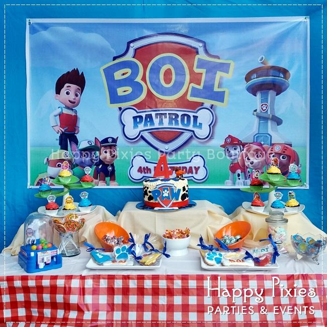 BOIs Paw Patrol 4th Birthday Party