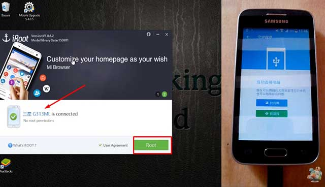 root samsung galaxy ace 4 con iroot