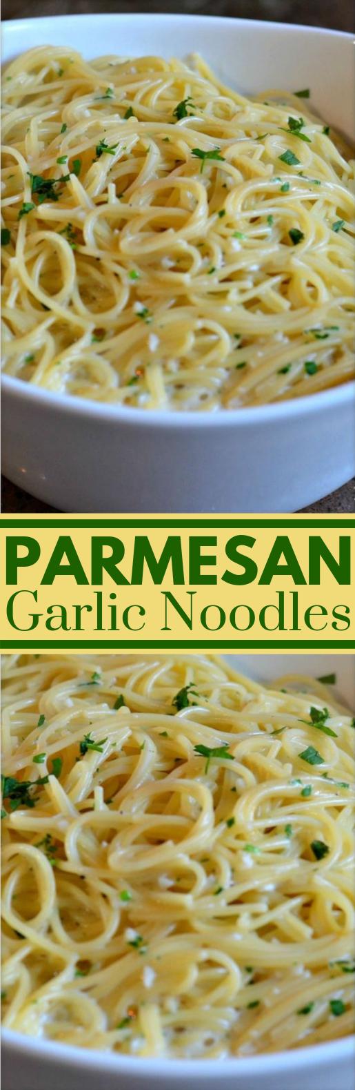 Parmesan Garlic Noodles #Dinner #SimpleRecipe